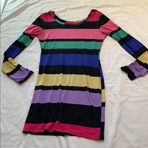 Akira Chicago Red Label Rainbow Stripe Shirt/Dress